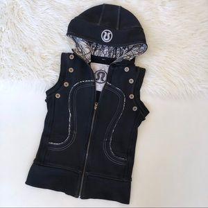 Lululemon special edition black scuba vest hoodie